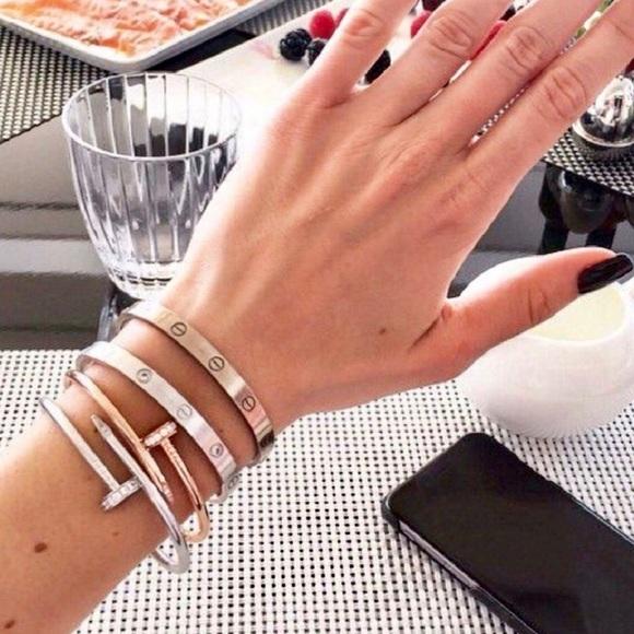 d06118a2f63f1 Bracelet Set Nail Love Screw Cuff Bracelet Bangle Boutique